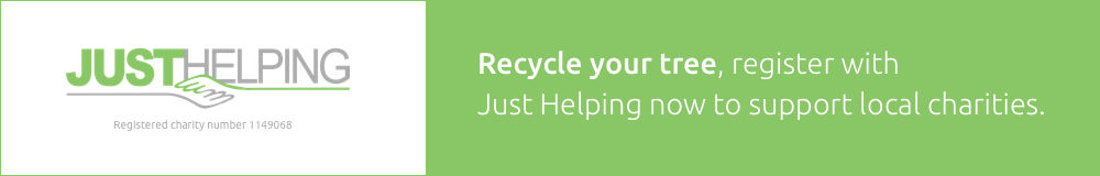 Recycle your tree, register with Just Helping now to support local charities